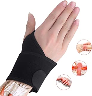 Ricfield Wrist Brace, Wrist Support Brace, Wrist Wrap, for Sprains, Carpal Tunnel Syndrome, Arthritis, Wrist Tendonitis Pain Relief & Injury Recovery, Fit for Both Left Hand and Right Hand – Single
