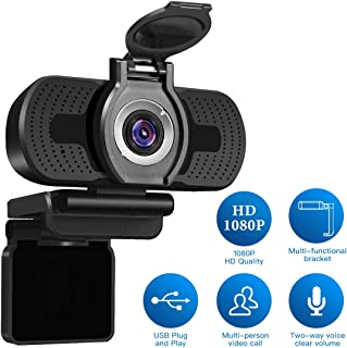 LarmTek 1080P Full HD Webcam with Webcam Cover,Computer Laptop Camera for Conference and..