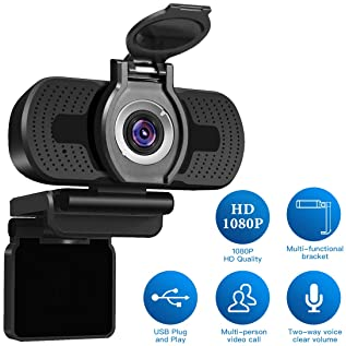LarmTek 1080P Full HD Webcam with Webcam Cover,Computer Laptop Camera for Conference and Video Call, Pro Stream Webca...