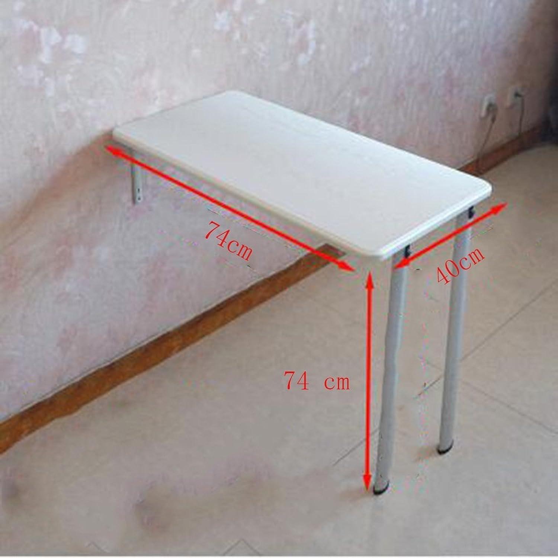 FEI Klapptisch Wandtisch Wandtische Esstisch Computer Schreibtisch Studie Tabelle in 3 Farben 2 Gren Optional (Farbe   A, gre   74  40  74CM)