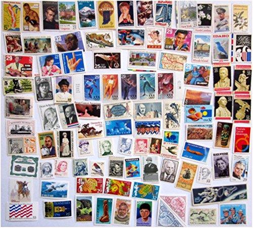 100 Postage Stamps Vintage Unused All Different