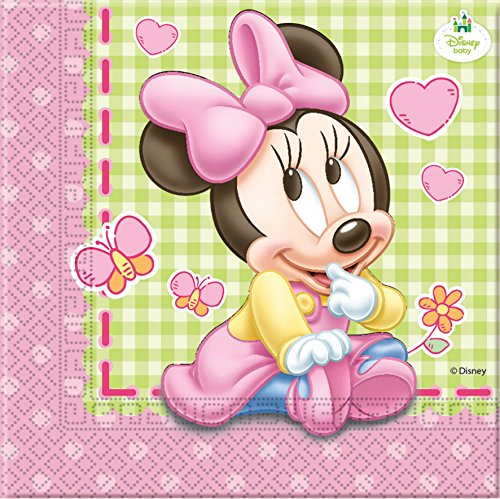 Disney Bébé Minnie Mouse, Lot de 20 Serviettes en Papier