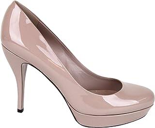 e5cd523c129 Gucci Women s Dark Cipria Patent Leather Platform Heel Pump 309999 6812  (39.5 G US