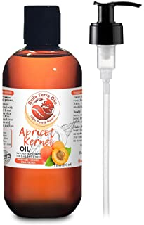 NEW Apricot Kernel Oil. 8oz. Cold-pressed. Unrefined. Organic. 100% Pure. Anti-aging. Hexane-free. Hair Growth Oil. Natura...