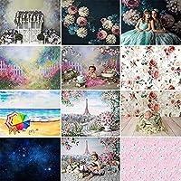 春の花の背景写真新生児の肖像画の花の背景子供の誕生日 Photophone 小道具-150X100CM