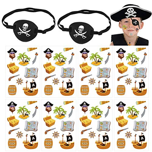 (50% OFF) Pirate Eye Patch & Temporary Tattoo Stickers $2.50 – Coupon Code