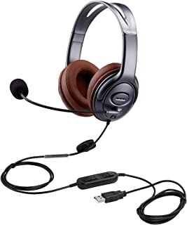 USB Headset with Microphone Noise Cancelling and Volume Controls, Computer PC Headphone with Voice Recognition Mic for Dra...