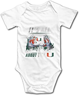 Miami Hurricanes All About The U Baby Onesies Boys Girls Romper Bodysuit Infant Funny Jumpsuit Outfit 0-2t