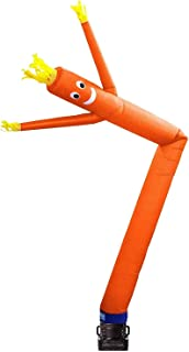Skyerz Inflatable Advertising Sky Air Puppet Wacky Waving Arm Flailing Tube Man with Blower, 20 Feet, Orange