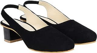 Misto Vagon Women and Girls Casual Block Heel Sandal in Black