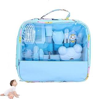 HBIAO Juego de Cuidado de uñas para bebé, 13 Juegos de Cuidado termómetro Belleza Cepillo Tijeras multifunción Cuidado del bebé Accesorios de Salud,Blue