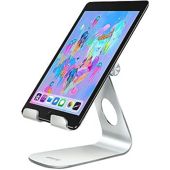 AKEIE タブレット スタンド スマホ兼用 角度調整可能 充電スタンド 卓上スタンド 携帯スタンド 4インチ~12.9インチに対応 For Nintendo Switch iPad mini air 1/2/3/4 iPad Pro 7.9/9.7/10.5 iPhoneX/8 Plus/8/7 Plus/7 Samsung S7 S8 Note 6 LG Kindle Samsung Tab Sony Huawei MediaPad (シルバー)
