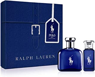 Ralph Lauren Polo Blue for Men 2piece Set (2.5 Oz Eau De Toilette Spray + 1.0 Oz Eau De Toilette Spray Travel Spray) , 3.5 Oz
