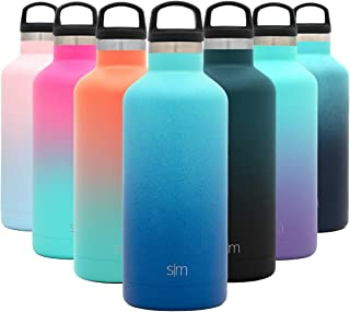 Simple Modern 32oz Ascent Water Bottle - Hydro Vacuum Insulated Tumbler Flask w/Handle Lid - Double Wall Stainless Steel Reusable - Leakproof Ombre: Pacific Dream