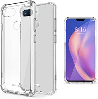 Moozy Funda Silicona Antigolpes para Xiaomi Mi 8 Lite, Mi 8 Youth, Mi 8X - Transparente Crystal Clear TPU Case Cover Flexible