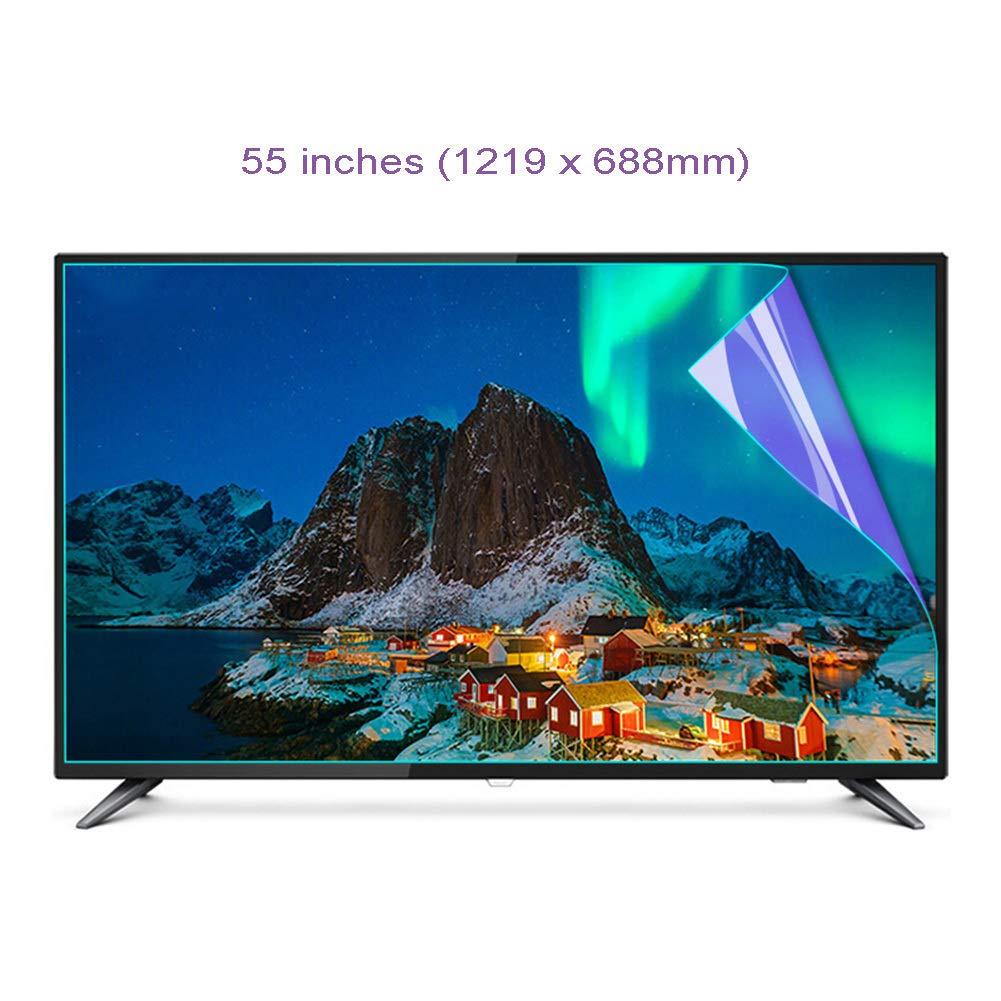 WTTO 55 Pulgadas Protector De Pantalla De TV, Antiazul TV Protección de Pantalla Antideslumbrante Alivia La Fatiga Ocular Filtro Se Adapta a LCD/HDTV/monitores y Pantallas,B: Amazon.es: Hogar