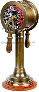 Nagina International Engine Order Telegraph Chadburn Nautical Maritime Home Decor Accent & Collectible Figurines with Functional Bell   Gifts & Decor (36 Inches, Brass Antique)