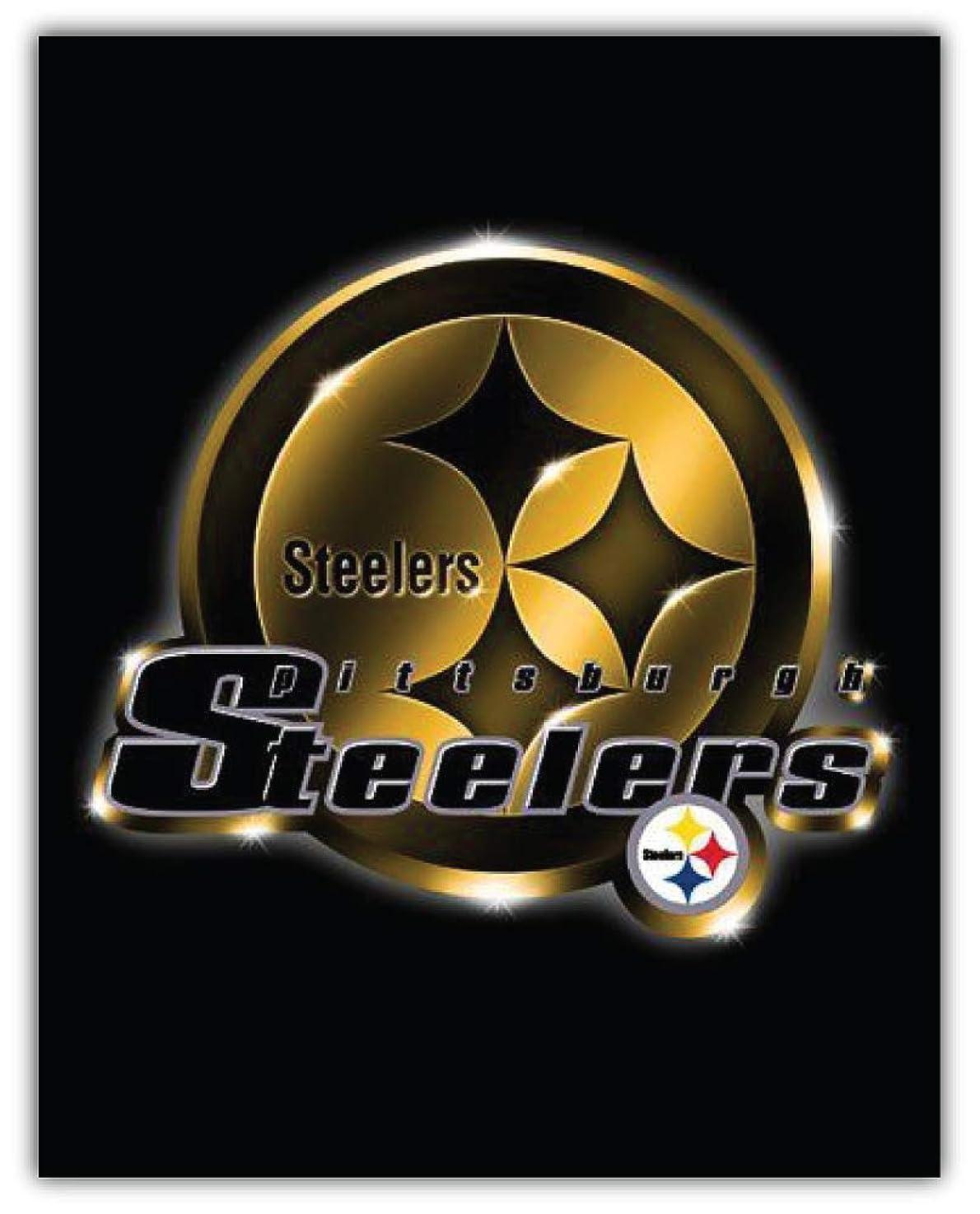Pittsburgh Steelers NFL Car Bumper Sticker Decal 4'' X 5''