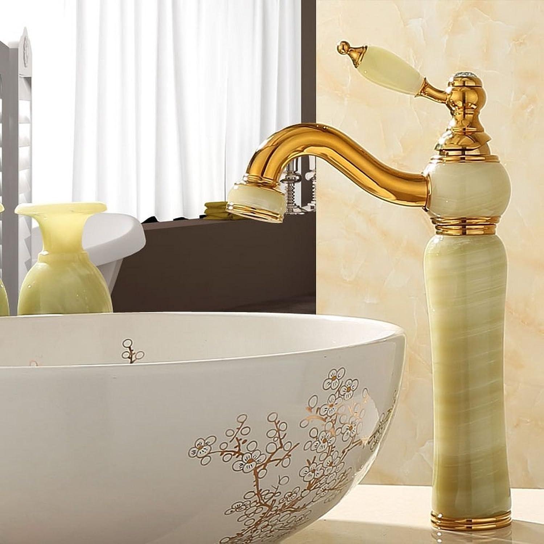Rmckuva Waschtischarmaturen Waschbecken Wasserhahn Moderne Einhand-Wasserhahn 360 ° Drehbare Düse Warmes Und Kaltes Wasser Messing Mixer Blender Jade Wasserhahn Cyan-13