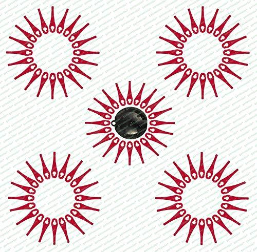 100 Ersatzmesser, Messer, Schneidplättchen, Kunststoffmesser mit Schneidscheibe, passend für Akku Rasentrimmer FRTA 20 A1 - LIDL IAN 282232