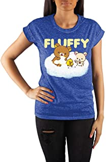 Rilakkuma Crew Neck Rolled Sleeve T-Shirt