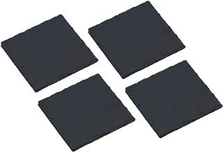 KitchenCraft Artesà Square Slate Coasters, Set of 4, Gift Boxed, 10 cm