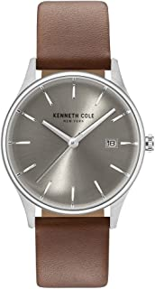 Kenneth Cole Womens Quartz Watch, Analog Display and Leather Strap KC15109005