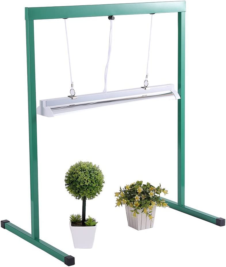 4. iPower T5 Fluorescent Grow Light with Stand Rack