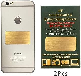 EMF Protection Sticker : EMF Shield fit All Mobile Phones, iPad iPod, MacBook  Negative Ion Generator  Anti Radiation Shield, EMF Blocker Neutralizer 2 Pack