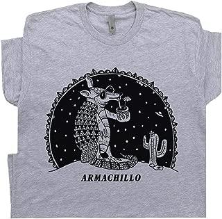 Armadillo T Shirt UFO Alien Weird Tee Funny Armachillo Jackalope Desert Cactus Santa Fe Margarita