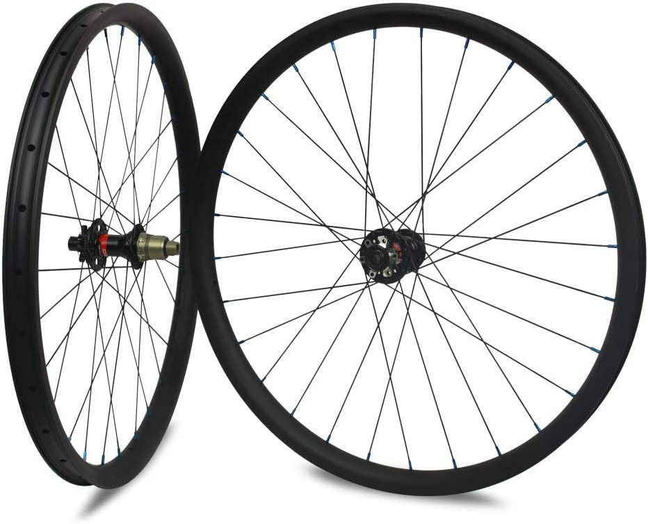 29er Carbon Rim MTB Clincher Tubeless 35mm UD Matt Mountain Bike Wheel 28 holes