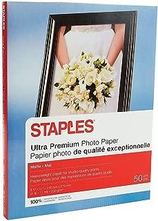 Staples 564121 Ultra Premium Matte Photo Paper 8.5-Inch x 11-Inch 50/Pack (19895-CC)