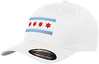 31dc2fbd137 Chicago Flag Flexfit Premium Classic Yupoong Wooly Combed 6277 LR Hat