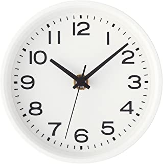 MUJI Analog Clock Small Watch White stand Wall mounted Continuous second hand watch