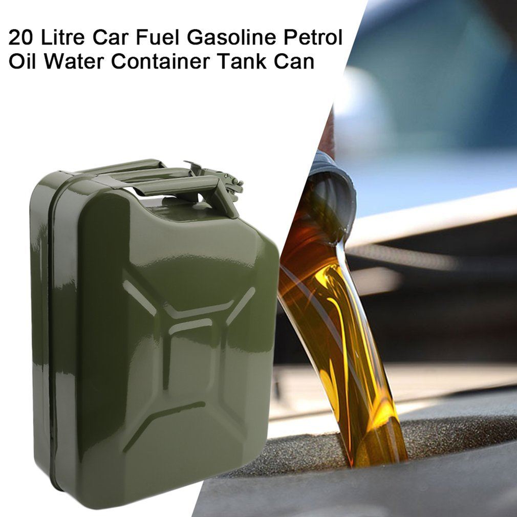 20L NEW LITRE GREEN METAL JERRY CAN FUEL PETROL CAR STORAGE DIESEL CONTAINER