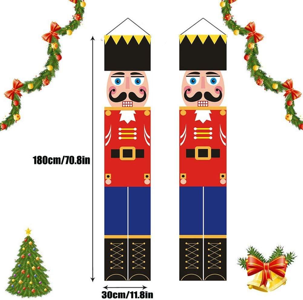 Christmas Nutcracker Decorations Soldier Model Nutcracker Banner Soldier Model Banner for Christmas Decorations 180X30cm//70.8X11.8in