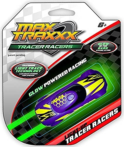 Max Traxxx Tracer Racers Light Trace Technology Gravity Drive Car (Assorted Farbes) by Max Traxxx