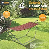 SA Products Hammock with Metal Frame - Freestanding Outdoor Swing Bed - Heavy-Duty