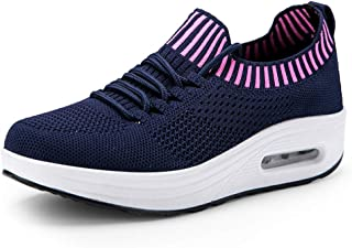 Unparalleled beauty Women's Athletic Knit Breathable Sneakers Running Sports Shoes
