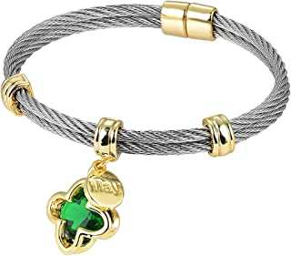 [Luxury Packaging Premier Birthstones Beautiful Twisted Cable Bangles