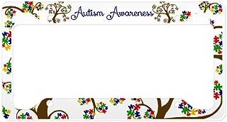 CafePress Autism Awareness Tree of Life Aluminum License Plate Frame, License Tag Holder