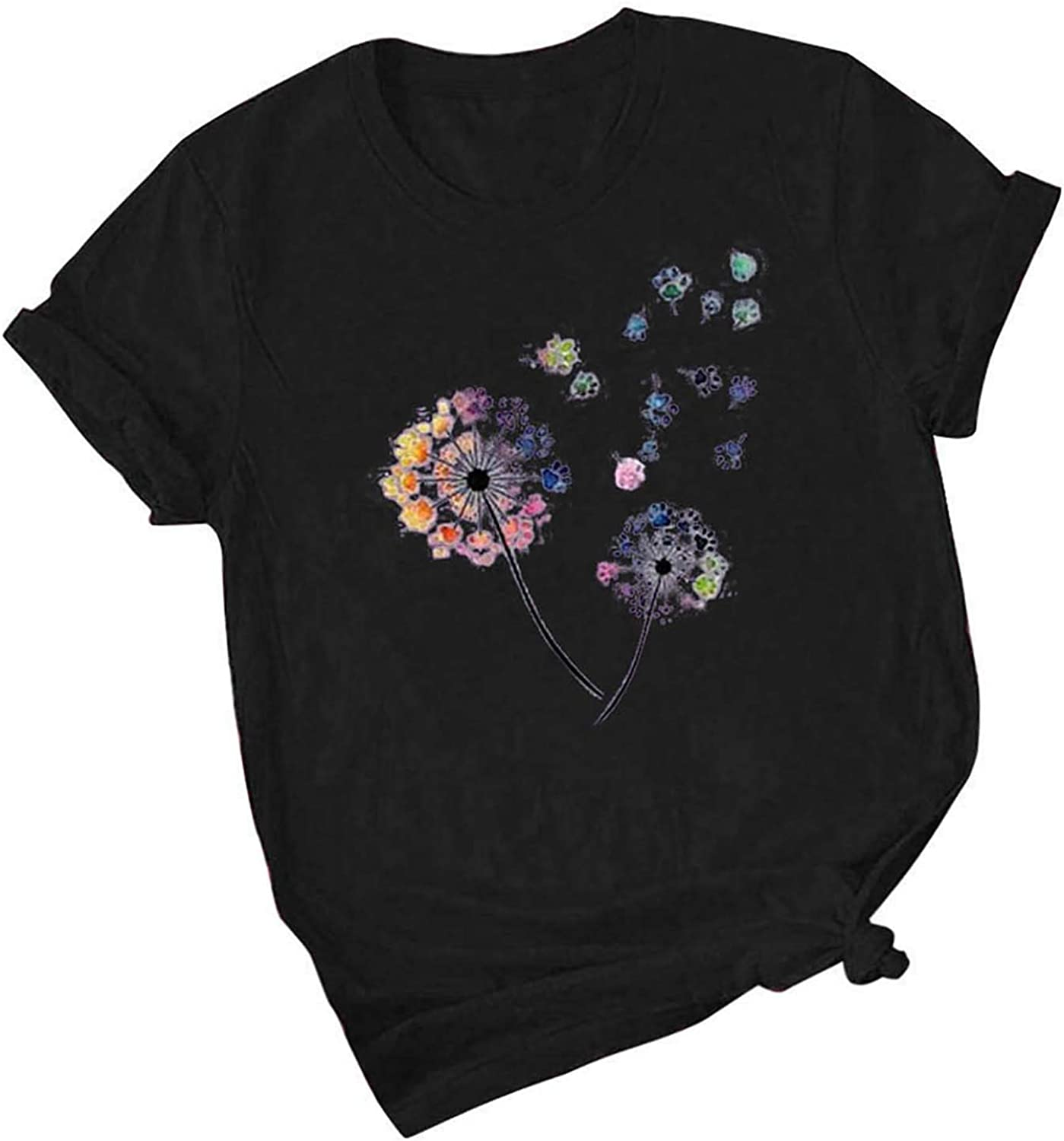 Summer Tops for Women 2021,Short Sleeve Shirts for Women, Plus Size O-Neck Tee Top Easter Bunny Letter Print Shirts T Shirts Blouse