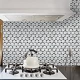 Lianlili Negro y Oro Mármol Pegatinas de Azulejos Pegatinas de Pared Etiquetas de Pared Decorativo Extrovable Peel & Stick para la Cocina Backsplash (Color : Hexagon Metallic, Size : 15x15cmx10pcs)