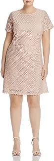 Junarose Women's Plus Size Crochet Lace Short Sleeve Dress