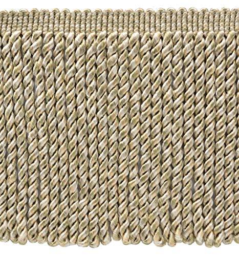 DÉCOPRO 5 Yard Value Pack / 6 Inch Long/Dawn, Parchment, Pebble, Ivory Bullion Fringe Trim/Style# BFMLT6 / Color: Pearle - PR11 (15 Ft / 4.6 Meters)
