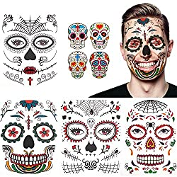 8-Pack Halloween Temporary Face Tattoos Only $2.99!