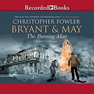 Bryant & May and the Burning Man audiobook cover art