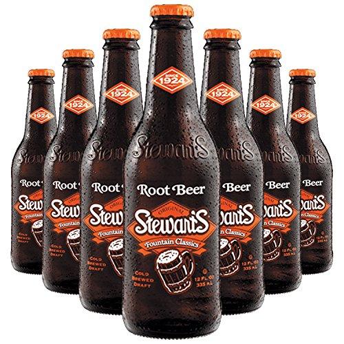 Stewart's Root Beer, 12 fl oz (24 Glass Bottles)