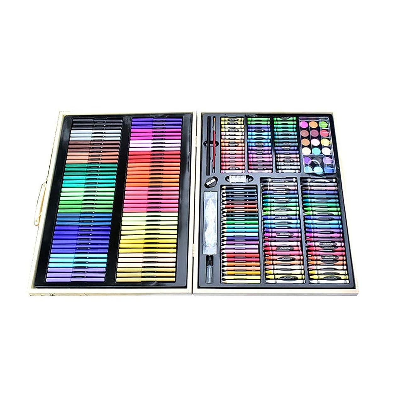 可動文房具裸アーティストペンセット 251ピース/セットキッズアート描画ツール水彩画ペン液体塗装キットペンセット 初心者およびジュニア向け (色 : Black, Size : Free size)