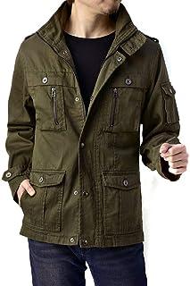 (フラグオンクルー) FLAG ON CREW メンズ 綿 サテン M65 ミリタリー ジャケット フィールドジャケット / B4N